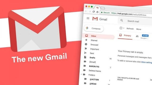 كيفية تفعيل التصميم الجديد لبريد  Gmail وأهم مميزات التطبيق