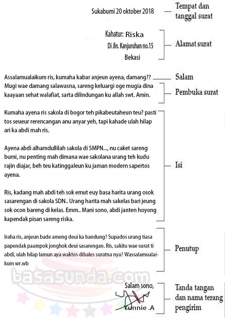 Kumpulan Contoh Surat Pribadi Bahasa Sunda Untuk Teman Terbaru