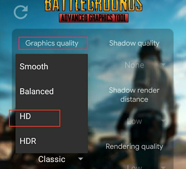 Play PUBG mobile at high quality of Graphics