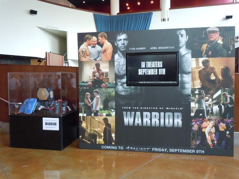 Warrior movie prop display