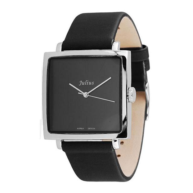 Đồng hồ nam dây da mặt vuông sang trọng, đẳng cấp