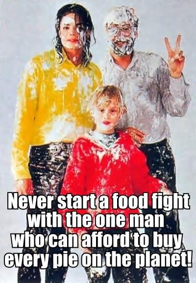 Michael Jackson Food Fight Meme