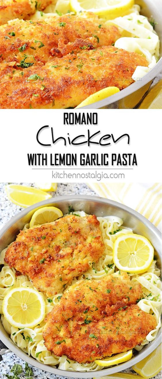 ROMANO CHICKEN WITH LEMON GARLIC PASTA #romano #chicken #chickenrecipes #lemon #garlic #pasta #pastarecipes #tasty #tastyrecipes #delicious #deliciousrecipes