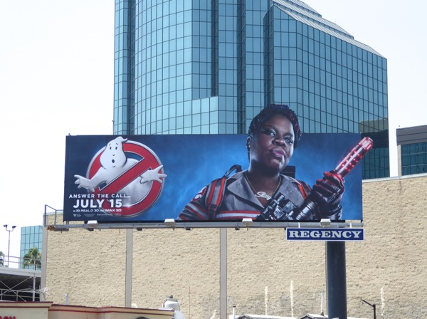 Ghostbusters movie Leslie Jones billboard