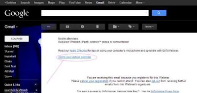 Πρόσκλησε σε event  μέσα από email(,ics file)
