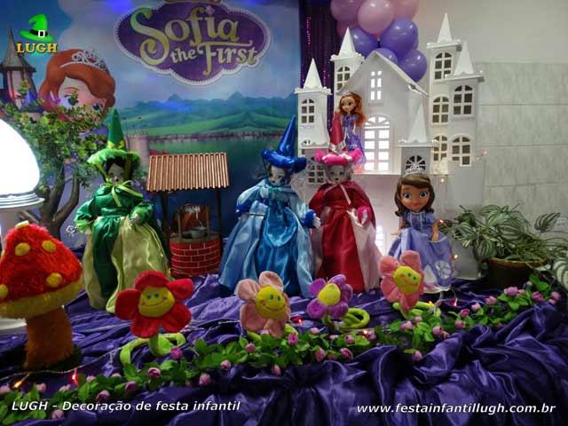 Mesa temática Princesa Sofia - Festa de aniversário