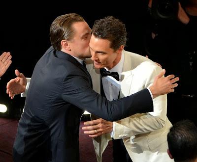 Oscars 2014 Dicaprio Matthew McConaughey