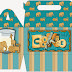 Elephant, Giraffe and Lion Free printable Lunch Box.