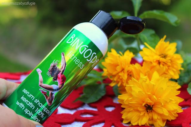 Keratynowe serum szamponowe ze spiruliną BingoSpa Fitness