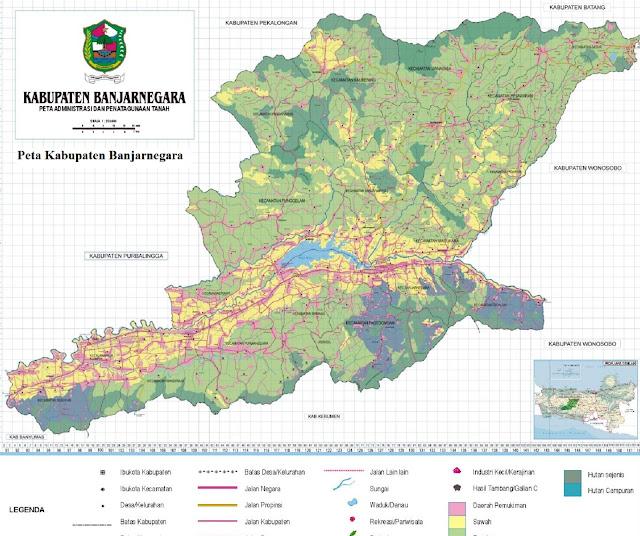 Peta Kabupaten Banjarnegara