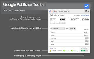 Google publisher toolbar alat untuk melihat pendapatan google adsense secara praktis