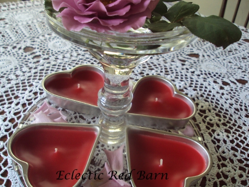 Heart-shaped Tins as Candles