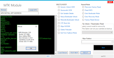MTK Bootloader and Frp Unlock tool 2018 free download