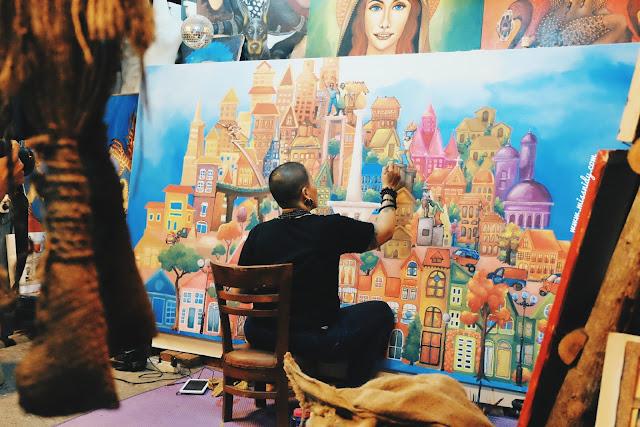 galeri lukisan di pasar seni ancol