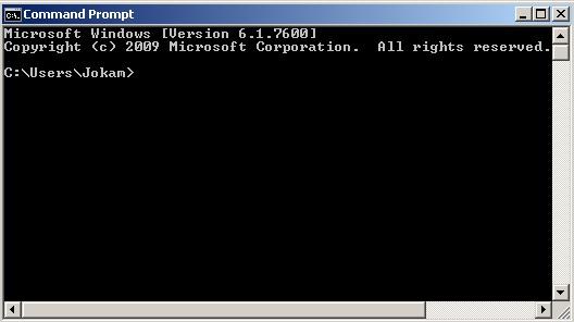 command prompt klik kiri