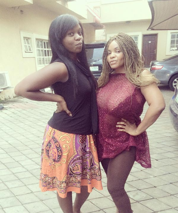 Hmm. Cossy Orjiakor poses in see-through dress at movie location