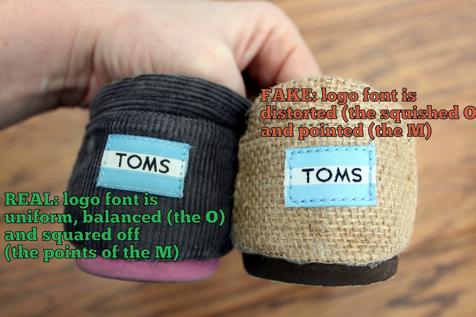 e69ef0ee45f Put Up Your Dukes  Real TOMS vs Fake TØMS  Spotting the Differences
