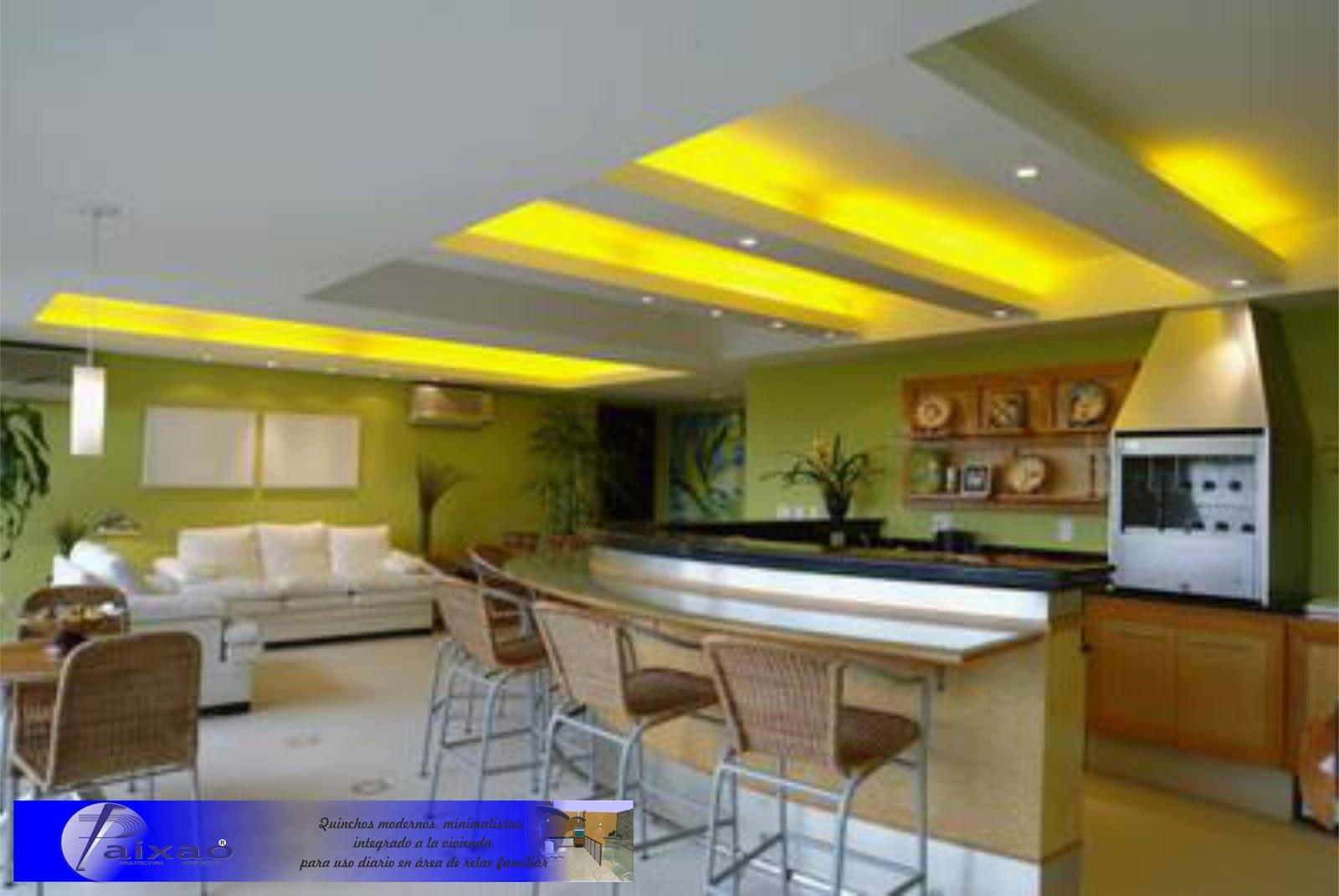 Ara construcciones en general quinchos minimalistas for Parrilla para dentro de la casa