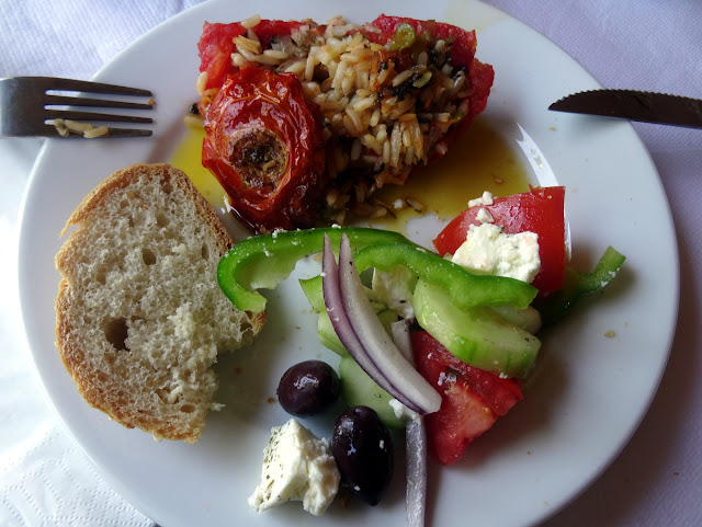 Greek lunch in Akrogiali