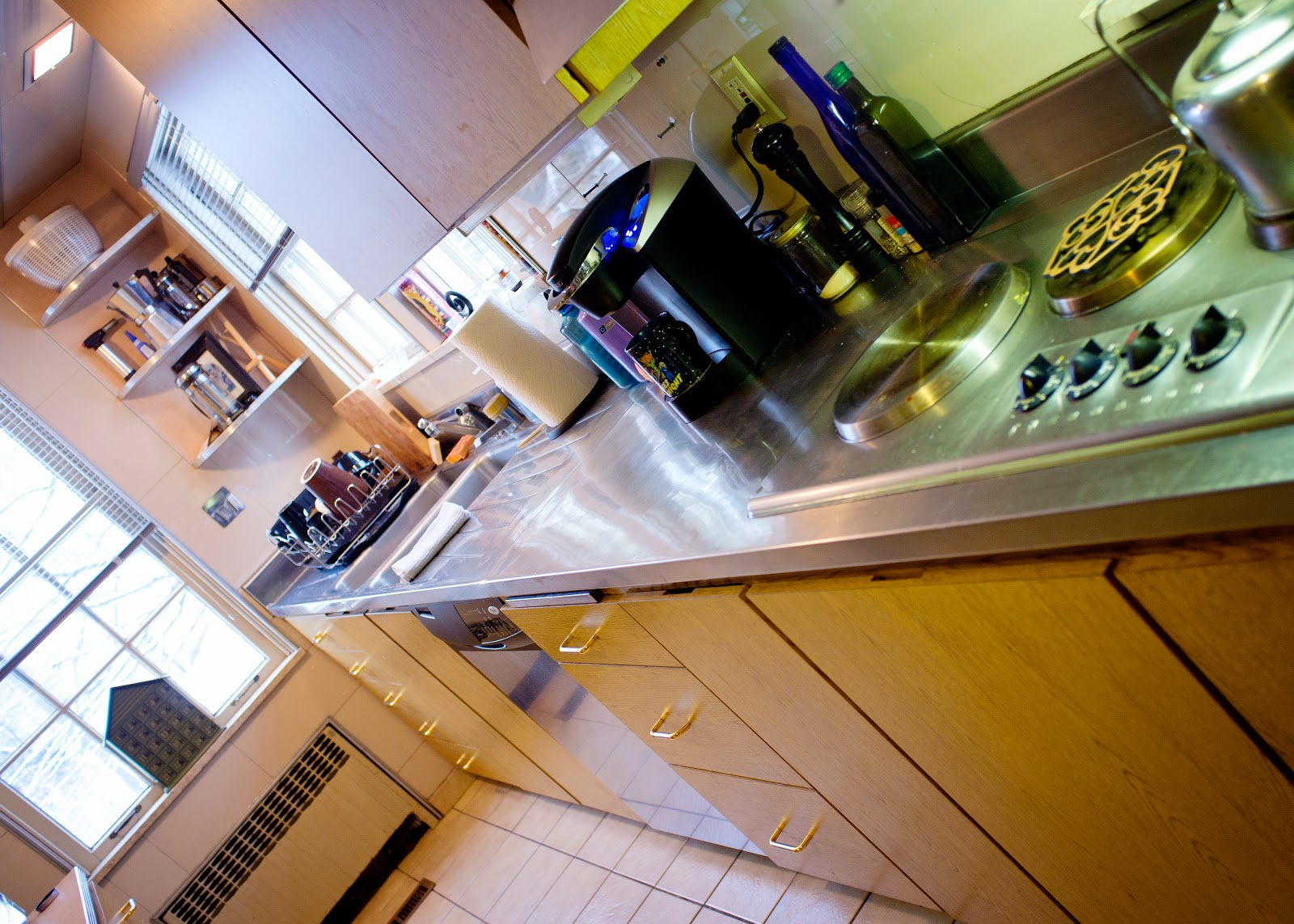 Butcher Block Stainless Steel Kitchen Island Egger Designs