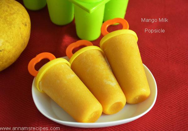 Mango Milk Popsicle