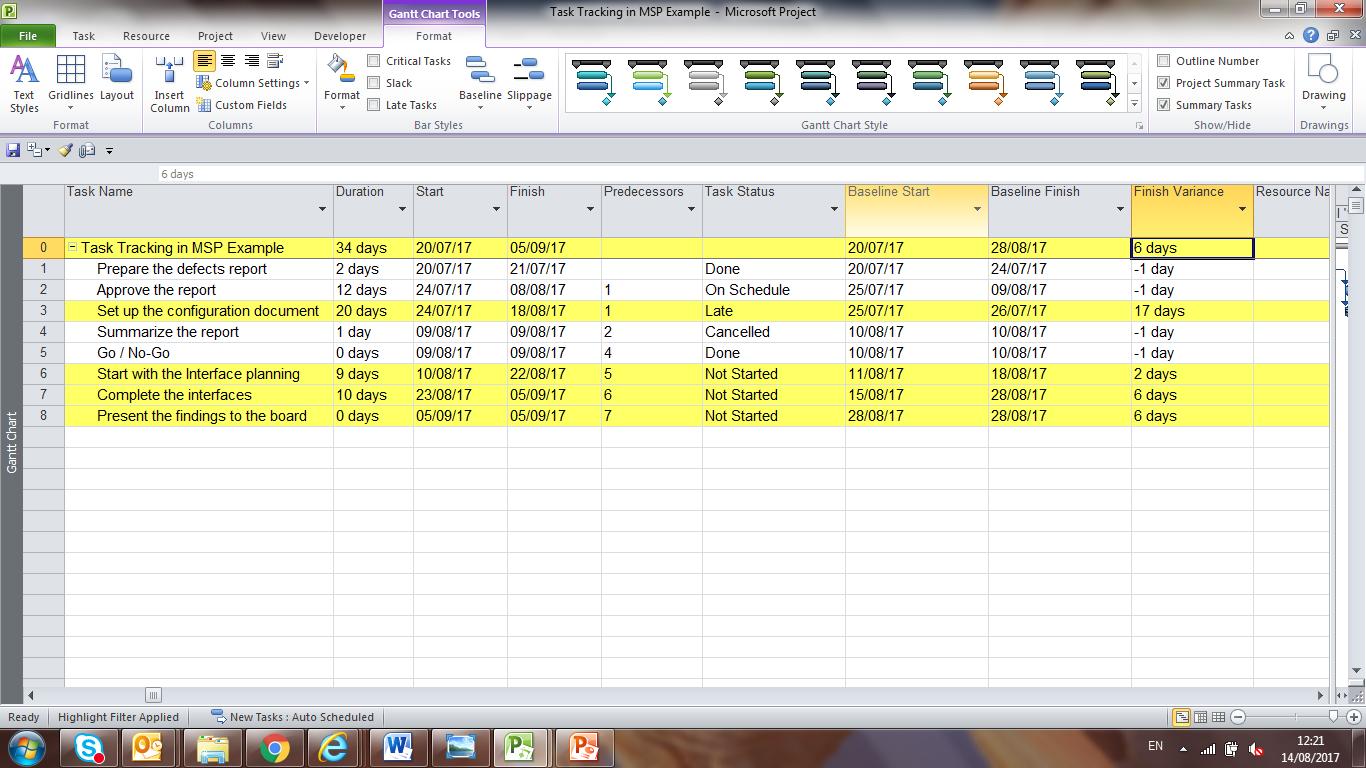 8 methods of identifying delayed tasks in ms project free project slippage or delay in ms project baditri Choice Image
