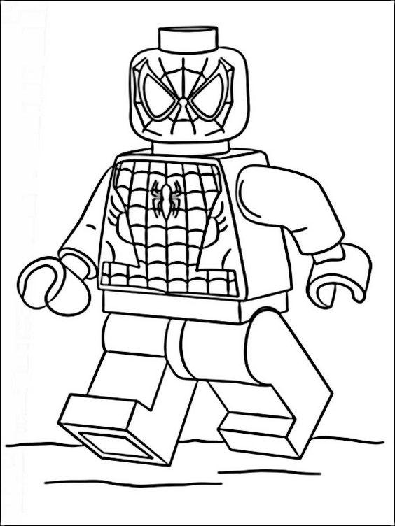 Lego City Kids Lego Homem Aranha Para Colorir
