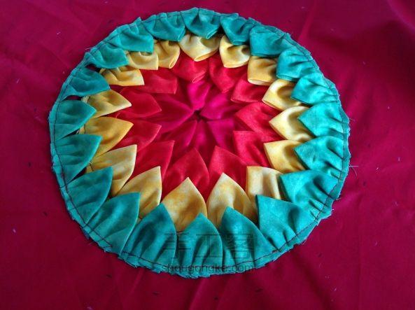 Patchwork cushion rainbow ~ Пэчворк подушка
