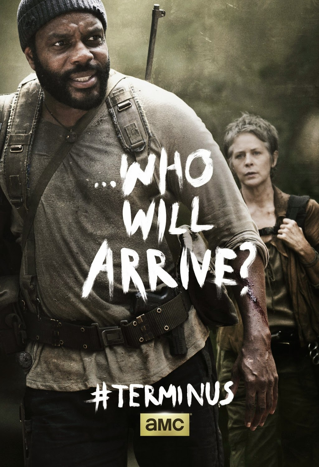 "The Walking Dead Season 4 Finale ""Terminus"" One Sheet Television Posters - ...Who Will Arrive? - Chad L. Coleman as Tyreese & Melissa McBride as Carol Peletier"