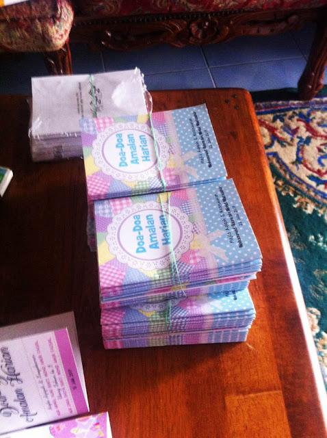 csutom made buku doa harian