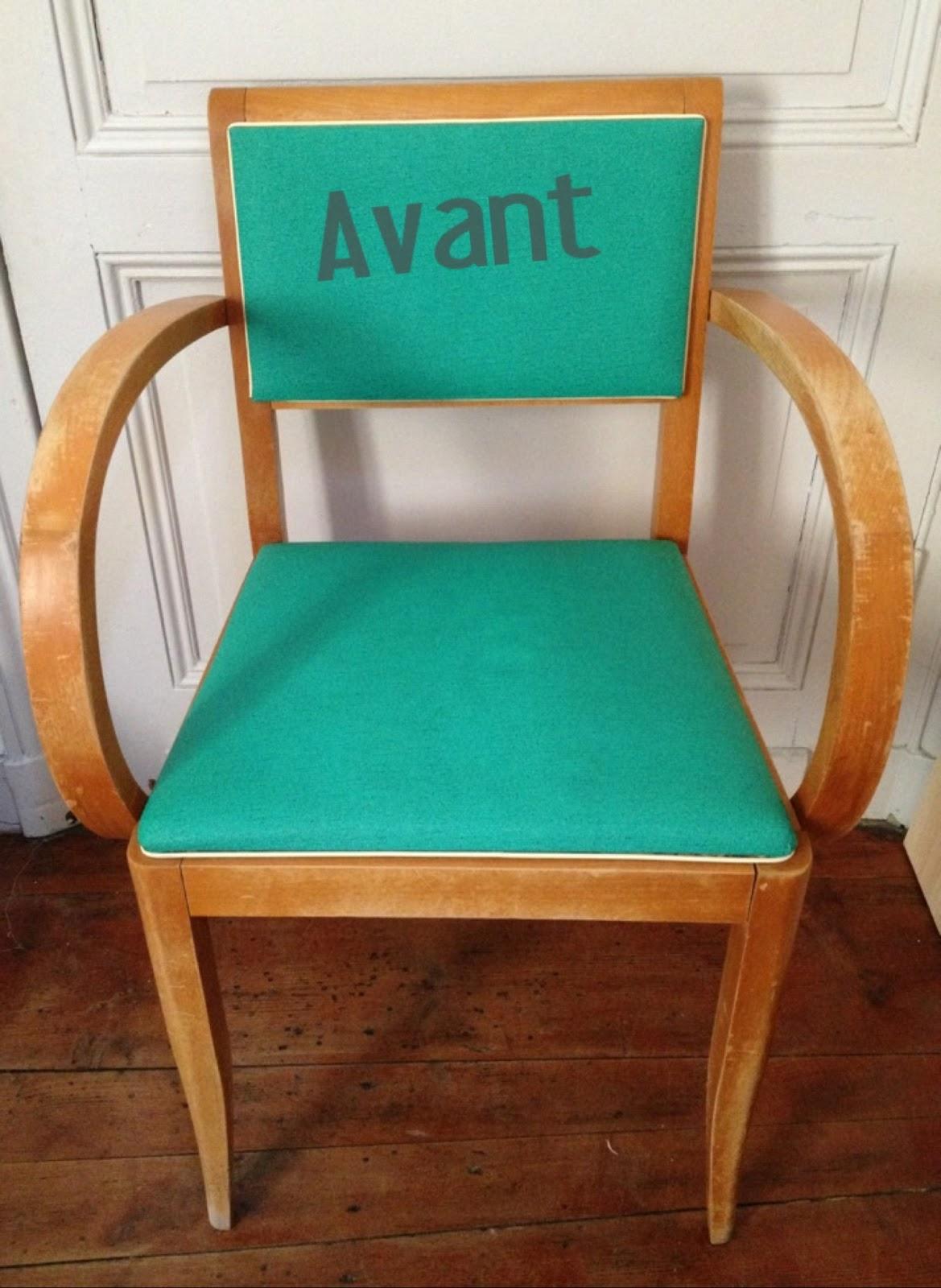 poudre d 39 toiles peindre sur un fauteuil en tissus. Black Bedroom Furniture Sets. Home Design Ideas