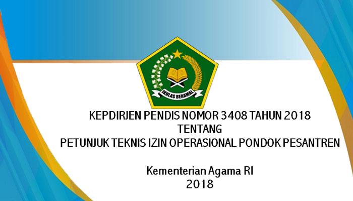 Download Petunjuk Teknis Izin Operasional Pondok Pesantren Terbaru