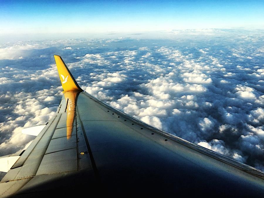 wolken aussicht fliegen