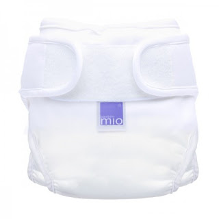 #RNW2018 Prize - White hook and loop fastening Nappy Cover