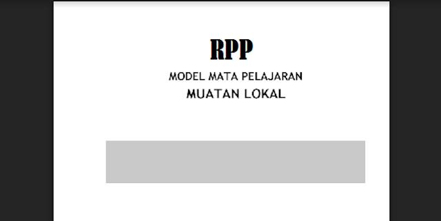 Contoh RPP Mulok SD