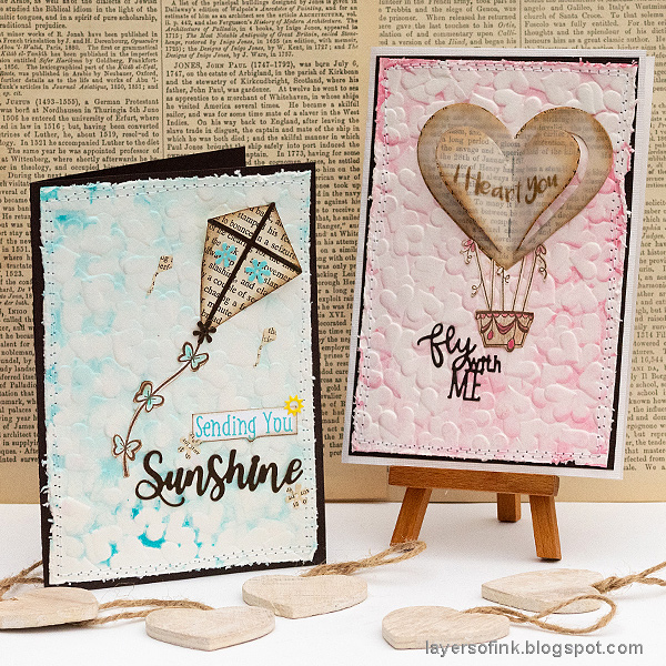 Layers of ink - Heart 3-D Embossed Cards Tutorial by Anna-Karin Evaldsson.