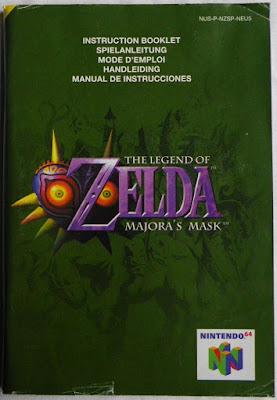 The Legend of Zelda - Majora's Mask - Manual portada