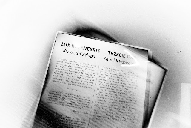 Ogólnopolski Festiwal Fotografii Otworkowej OFFO 2017 w Jastrzębiu-Zdroju. Wernisaż wystaw Krzysztofa Szlapy, Kamila Myszkowskiego i Tomasza Warzyńskiego. Prawda nie istnieje - esej o konstrukcji prawdy. Fotografia odklejona. Łukasz Cyrus, 2017r. fot. Łukasz Cyrus