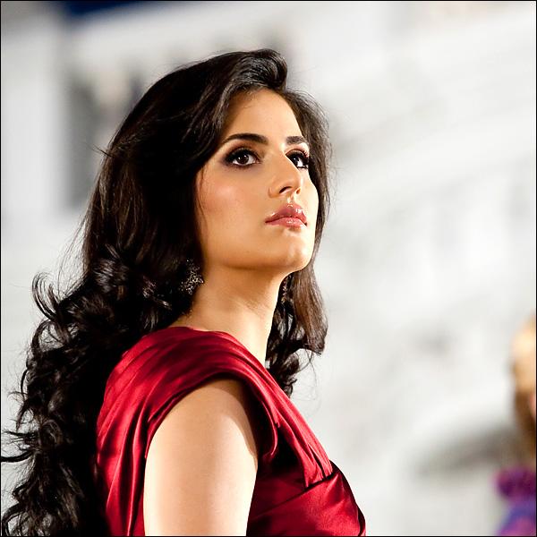 Hindi Actress Katrina Kaif Photo Shoot In Maroon Dress