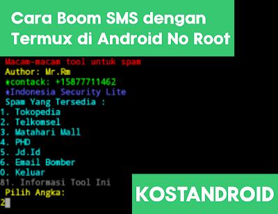 Cara Boom SMS dengan Termux di Android No Root