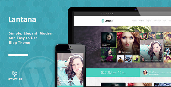 Download Free Lantana Responsive Blog WordPress Theme