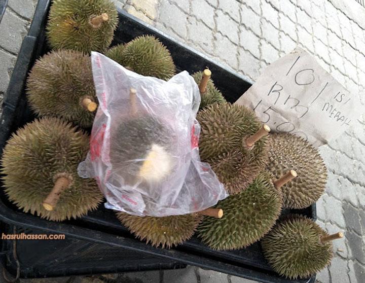 Durian 101 Harga RM15 Sekilo