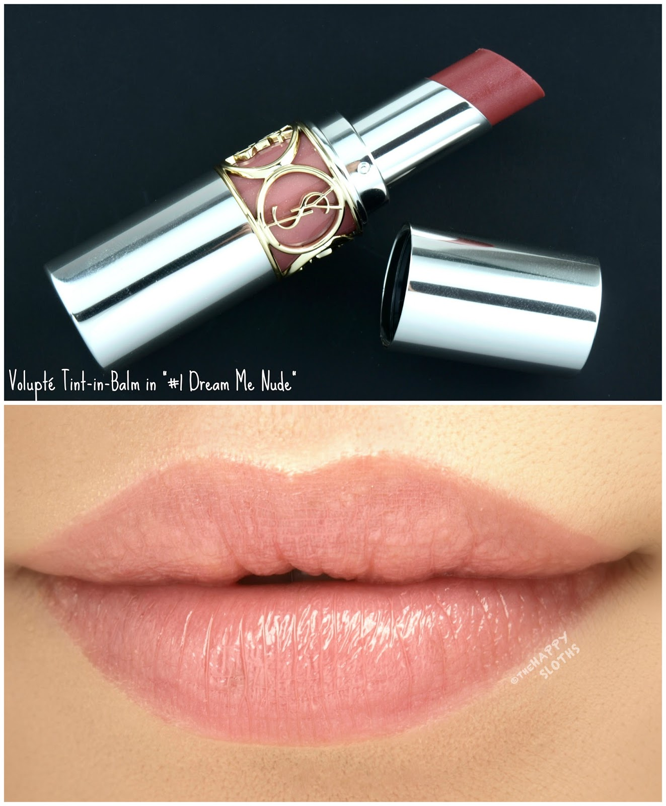 "Yves Saint Laurent Volupte Tint-in-Balm in ""1 Dream Me Nude"": Review and Swatches"