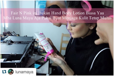 Artis Luna Maya Pakai Fair n Pink Body Whitening Serum