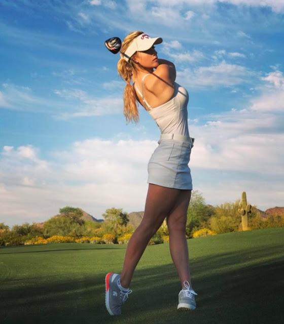 Paige Spiranac dice no a la prohibición de escotes en el golf