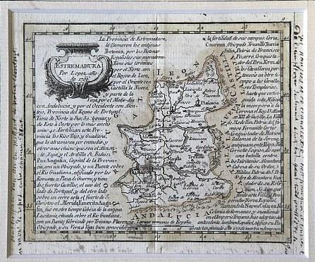 Extremadura por Thomás López (1756) -Cartoteca Histórica Digital de Extremadura