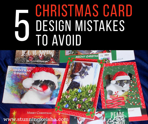 5 Christmas Card Design Mistakes to Avoid