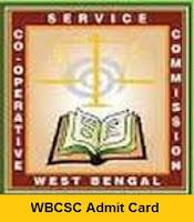 WBCSC Assistant Supervisor Clerk Admit Card