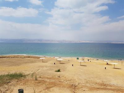 El mar muerto en la parte de Jordania