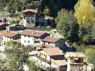 Typical stone houses in Rupit